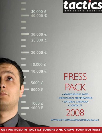 download our 2008 press pack here! - Tactics Magazine