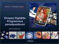 Eiropas Digitālās Programmas pamatpasākumi - EVITA