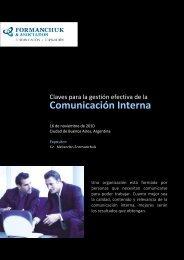 Curso de Comunicacion Interna - - Formanchuk & Asociados