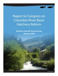 Report to Congress on Columbia River Basin Hatchery Reform