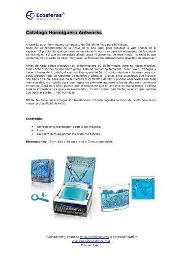 Catalogo Hormiguero Antworks - Ecosferas