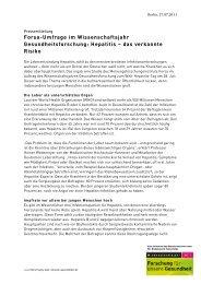 Forsa-Umfrage zum Welt-Hepatitis-Tag - Wissenschaftsjahr ...