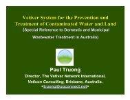 Contaminated Land - The Vetiver Network International