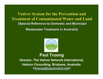 Contaminated Land - The Vetiver Network International