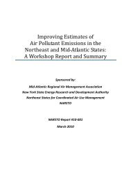 Improving Estimates of Air Pollutant Emissions in the ... - MARAMA