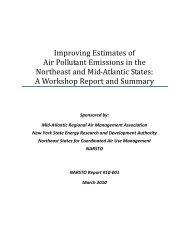 Improving Estimates of Air Pollutant Emissions in the ... - MARAMA