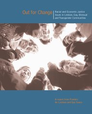 Out for Change Racial and Economic Justice Issues in Lesbian, Gay