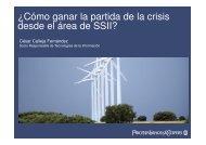 ¿Cómo ganar la partida de la crisis desde el área de SSII?
