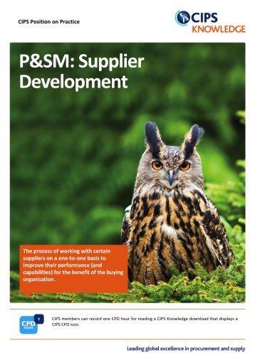 P&SM: Supplier Development