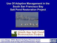 Use Of Adaptive Management in the South San Francisco Bay Salt ...