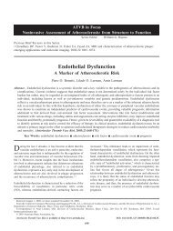 Endothelial Dysfunction - A Marker of Atherosclerotic Risk