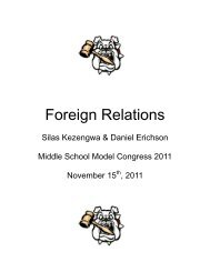 Foreign Relations - Mr. Manos