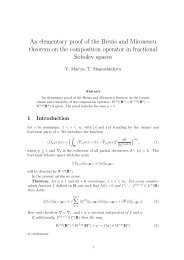 An elementary proof of the Brezis and Mironescu theorem on the ...