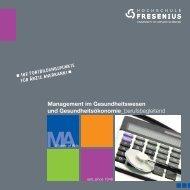Management im Gesundheitswesen und ... - Hochschule Fresenius