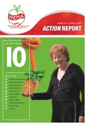 HEHA News, July 2008, Issue 10 (PDF, 1.9 - Weight Management