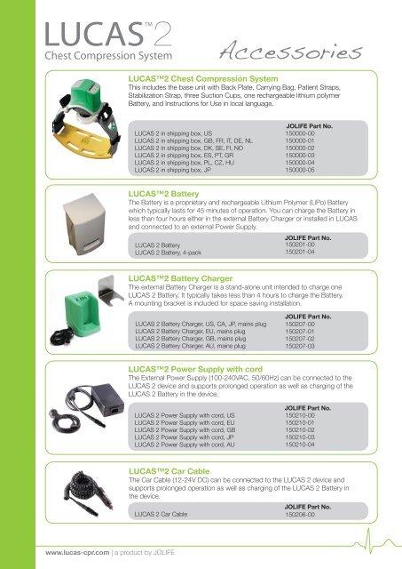 900123-00 LUCAS 2 Accessories.pdf - Lucas CPR