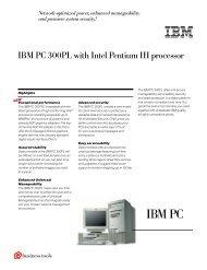 IBM PC 300PL with Intel Pentium III processor
