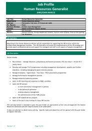 Job Profile Human Resources Generalist - NIjobs.com
