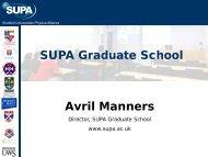 SUPA Graduate School Avril Manners