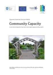 Community Capacity - Interreg IVB North Sea Region Programme