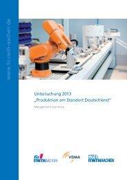 Produktion am Standort Deutschland - ProSense