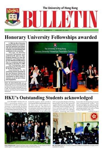 Honorary University Fellowships awarded - The University of Hong ...