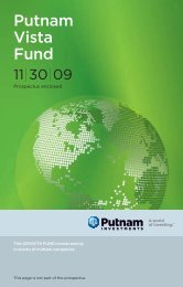 Not Assigned - Putnam Investments