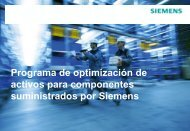 Asset-Optimierungsprogramm für Komponenten von Siemens