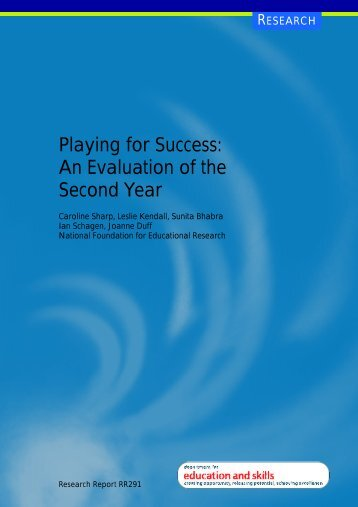 Playing for Success - Digital Education Resource Archive (DERA)