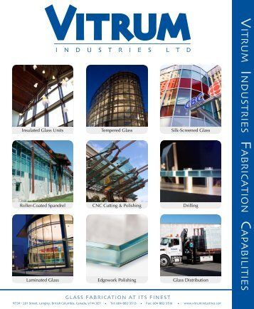 Fabrication Capabilities - Vitrum Industries