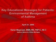 Key Educational Messages for Patients: Environmental ...