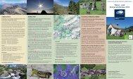 Natur- und Kulturerlebnisse 2012 - Landschaftspark Binntal
