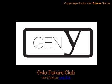 Generation Y - Instituttet for Fremtidsforskning
