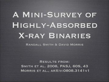 Results from: Smith et al. 2008, PASJ, 60S, 43 Morris et ... - HEASARC