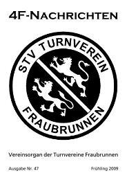4F-Nachrichten Mai 2009 - Turnverein Fraubrunnen