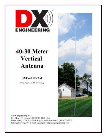 40-30 Meter Vertical Antenna DXE-4030VA-1 - DX Engineering