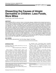 Dissecting the Causes of Atopic Dermatitis in Children: Less Foods ...