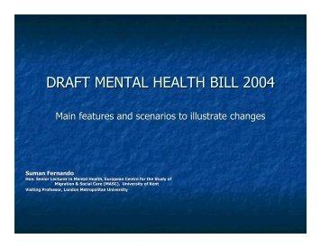 DRAFT MENTAL HEALTH BILL 2004