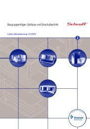 Baugruppenträger, Gehäuse und Einschubtechnik