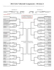 2012 Girls Volleyball Assignments – Division 4