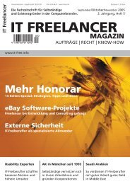IT Freelancer Magazin Nr. 5/2005