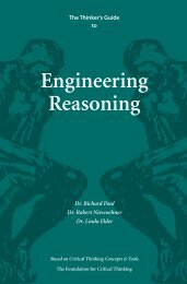 Engineering Reasoning - The Critical Thinking Community