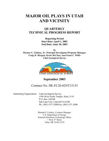 2nd quarter 2003 - Utah Geological Survey - Utah.gov