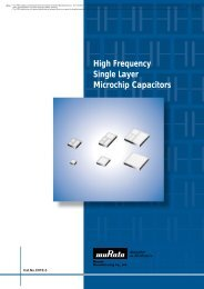 High Frequency Single Layer Microchip Capacitors - Murata