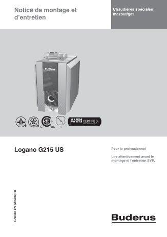 Notice de montage et d'entretien Logano G215 US - Buderus