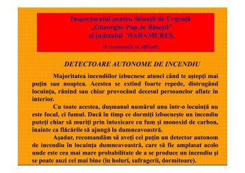 Detectoare autonome de incendii