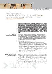 Forschungsprogramm - node - new orientations for democracy in ...
