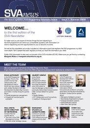 SVA Newsletter - Issue 1 - Supporting Voluntary Action - Scottish ...