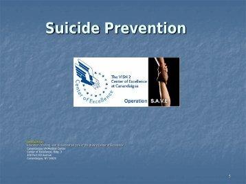 Department of Veterans Affairs Operation SAVE ... - VA Mental Health