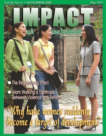 Vol 40, No 11 • NOVEMBER 2006 Php 70 - IMPACT Magazine Online!